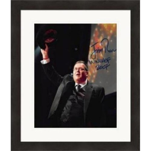 Autograph Warehouse 420924 Jim Ross Autographed 8 x 10 in. Photo Wrestling Broadcaster JR Inscribed WWE HOF No.SC1 Matted & Framed