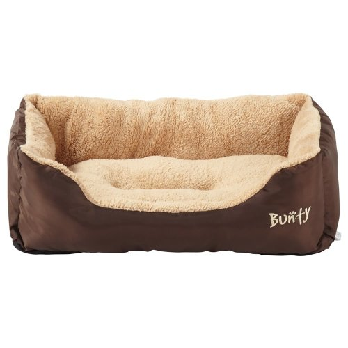(Brown, Large) Bunty Deluxe Dog Bed | Soft Fleece Pet Bed