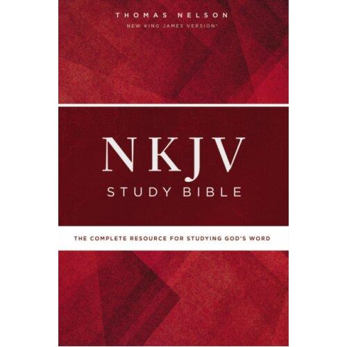 NKJV Study Bible Hardcover Comfort Print by Thomas Nelson