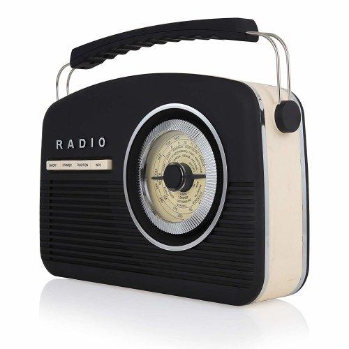 Akai  DAB Vintage Radio, 1950's Style, LCD Display, FM Radio, DAB+, Rubberised Finish