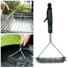 BBQ Grill Cleaning Brush Stainless Steel Wire Bristle Cleaner Brush Barbecue