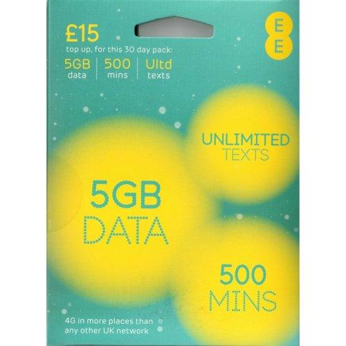 EE Pay As You Go 4G NANO / MICRO & STANDARD Sim SEALED