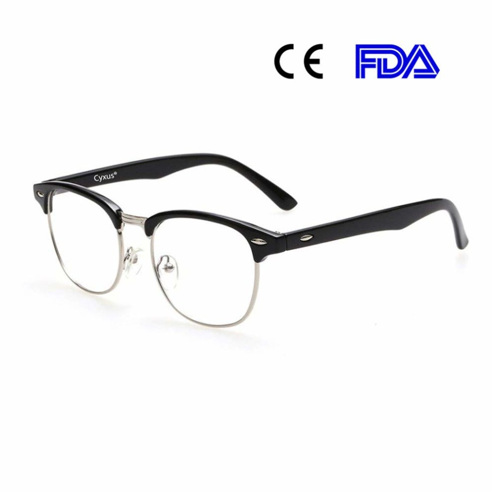 ATTCL Unisex Blue Light Blocking Glasses Women Mens Anti Eye Fatigue Non-Prescription Clear Lens Eyewear 2305 Black