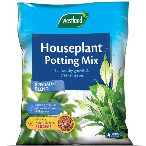 Westland Houseplant Potting Compost Mix Enriched with Seramis 4L