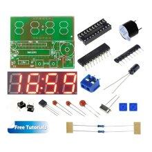 C51 4 Bits Digital LED Electronic Clock DIY Kit with Tutorials