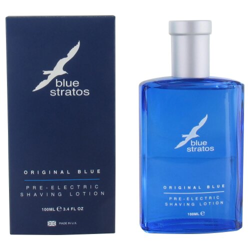 Blue Stratos Pre Electric Shaving Lotion 100ml New
