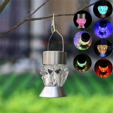 LED Solar Hang Pendant Lights Colorful Outdoor Garden Yard Path Chandelier Lamps