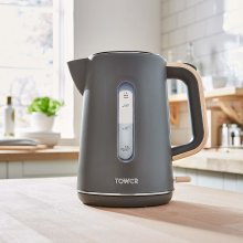 Tower T10037G Scandi Grey Wood Accents 3kW Quick Boil Cordless Rapid Boil Kettle