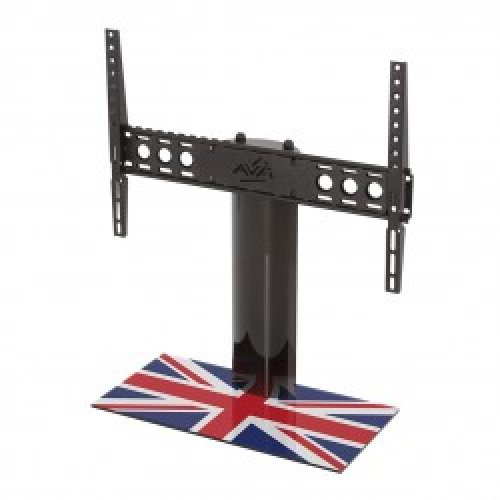 """King Table Top Base Pedestal Stand with Universal Bracket and Union Jack United Kingdom UK Great Britain Flag by TV Furniture Direct (12"""" - 65"""")"""
