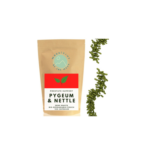 Prostate Support   Erectile Dysfunction- Pure Pygeum & Nettle Extract, 100 Vegan Capsules (430mg) Active