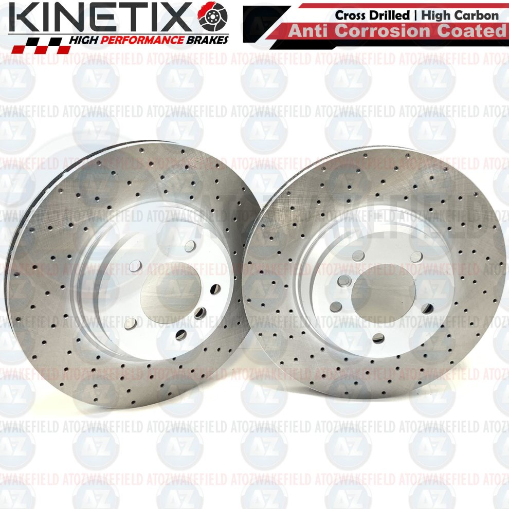 MK2 Focus RS Rear Brake Discs and Pads Performance Grooved Brembo Pads 302mm