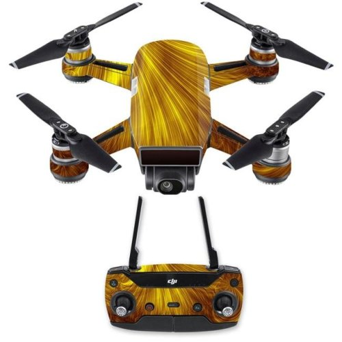 MightySkins DJSPCMB-Golden Locks Skin Decal for DJI Spark Mini Drone Combo Sticker - Golden Locks