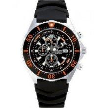 Chris Benz Ladies, Men, Unisexwatch CB-C300-O-KBS chronographs, Divers´ watch