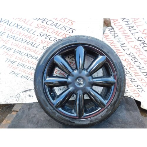 Mini Countryman R60 10-17 Single Alloy Wheel + Tyre 18 Inch 9804376 9804375 - Used