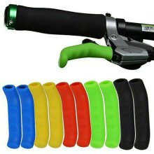 1 PAIR OF COLOURED BRAKE LEVER GRIPS PROTECTORS COVERS MOUNTAIN BIKE BMX MTB FIXIE