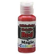 Magic Colours Edible Metallic Red -  magic colours edible metallic paint red 32g