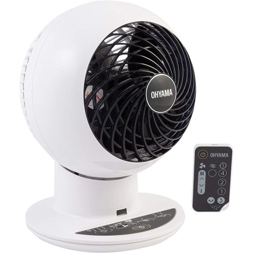 Iris Ohyama Fan, PCF-SC15T, 6.2 Inch, Swings Up/Down & Left/Right, Timer, Remote, 5 Speeds