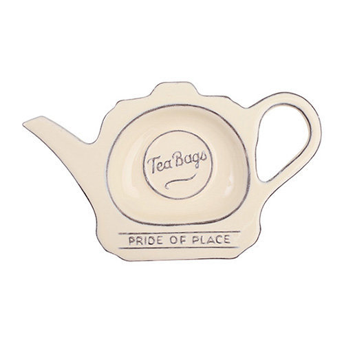 T & G Pride Of Place Tea Bag Coaster Tidy Holder Old Cream