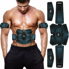 Electric Muscle Toner EMS Machine Wireless Toning Belt 6 / 8 Six Pack Fat Burner