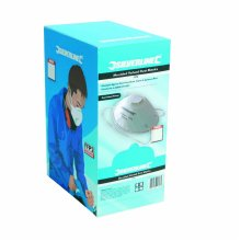 Pack Of 10 Ffp3 Moulded Valved Face Mask -  ffp3 valved moulded respirator nr box silverline dust face 10 display 427698 mask masks safety pack
