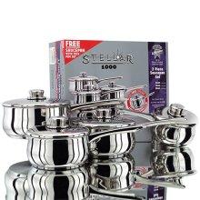 Stellar 1000 3 Piece Saucepan Set & Free Saucepan - PP74