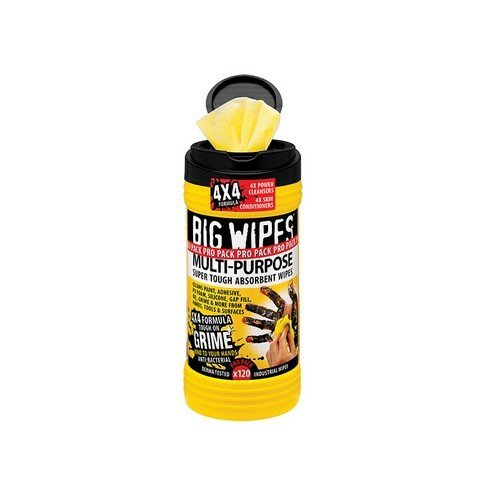 Big Wipes 2410 0000 4x4 Multi-Purpose Cleaning Wipes Tub of 120
