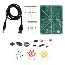 2x Electronic Flashing Lights DIY Components Soldering Practice PCB Board Kits