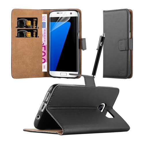 For Galaxy S7 Edge Premium Leather Wallet Case