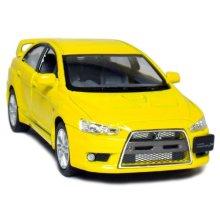 5 2008 Mitsubishi Lancer Evolution X 1:36 Scale (Yellow) by Kinsmart
