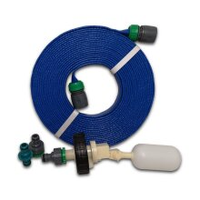 Mains Water Adaptor for Aquaroll Container with 20m Flat Non-Toxic Hose