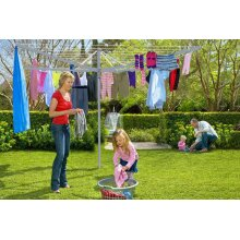 NEW CLOTHES AIRER 4 ARM ROTARY GARDEN WASHING LINE DRYER 50M FOLDING