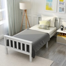 Single Bed Solid Pine Wooden Bed Frame for Adults, Kids 190 x 90 cm