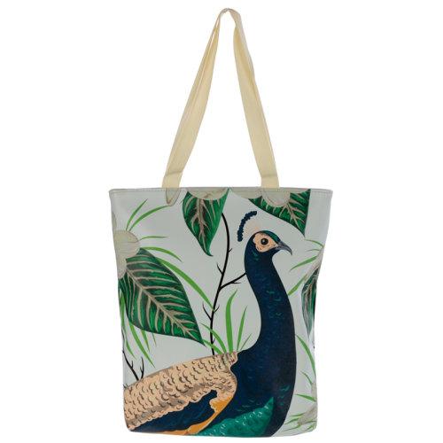 Peacock Reusable Tote Shopping Bag