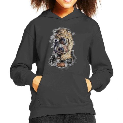 Original Stormtrooper Tusken Raider Mask Sketch Kid's Hooded Sweatshirt