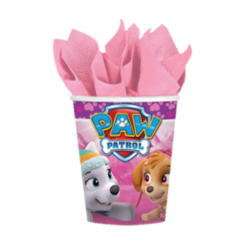 Pink Paw Patrol Paper Party Cups 8pk