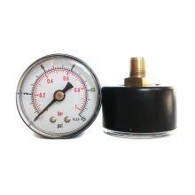 Pressure Gauge 40mm Dial 0/15 PSI & 0/1 Bar 1/8 BSPT Back Connection