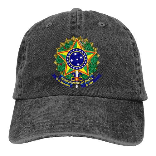 Coat Of Arms Brazil Denim Baseball Caps