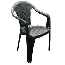 100 Plastic Garden Chairs Strong Black Stackable Outdoor Patio Furniture - Bulk