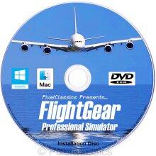 Flight Simulator 2020 X Flight Sim Plane & Helicopter FlightGear Including 500+ Aircraft DVD CD Disc For Microsoft Windows 10, 8.1, 8, 7 and Vista PC