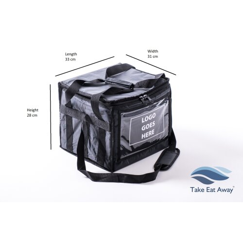 Food Delivery Bag with fabric panel to Customise add Branding or Logo T161P