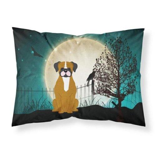 Halloween Scary Flashy Fawn Boxer Fabric Standard Pillowcase, 20.5 x 0.25 x 30 in.