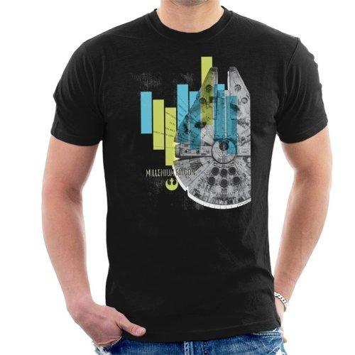 Star Wars Millenniumm Falcon Corellian Light Freighter Men's T-Shirt