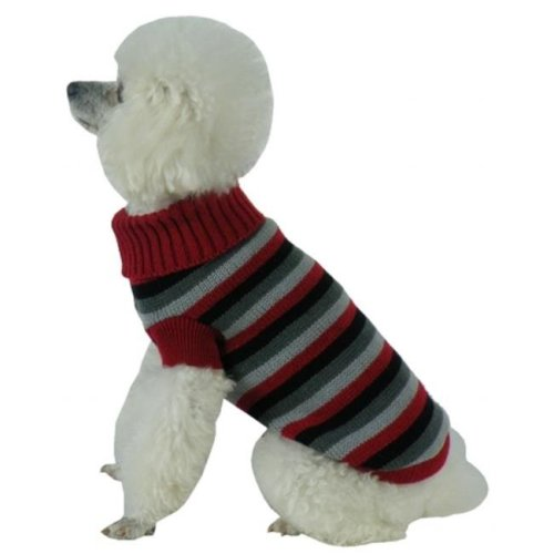 Pet Life SW6RBKXS Polo-Casual Lounge Cable Knit Turtle Neck Dog Sweater, Extra Small
