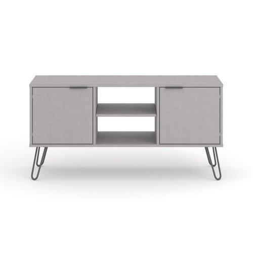 Grey 2 Door 2 Drawer Flat Screen TV Unit Stand Cupboard Living Room Storage