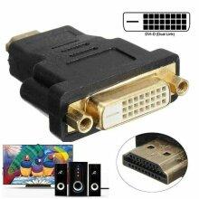 DVI-D Female to HDMI Male Video Converter Adapter