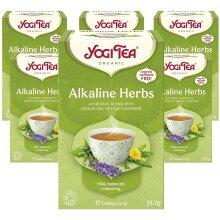 Yogi Tea Alkaline Herbs 17 Teabags (Pack Of 6, Total 102 Teabags)