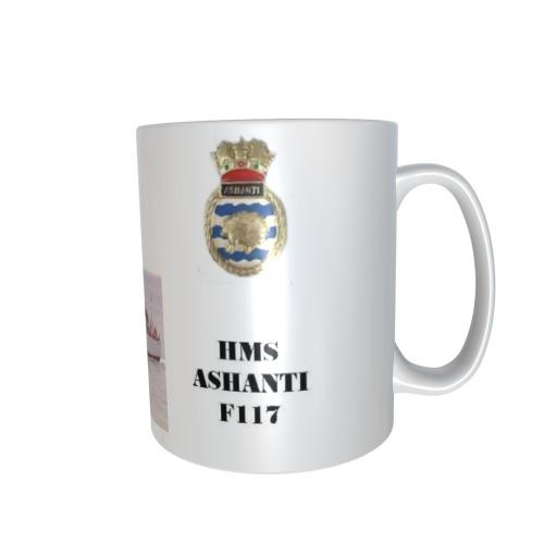 HMS ASHANTI F117 PERSONALISED CERAMIC COFFEE MUG