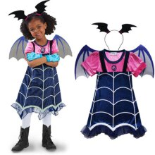 Kids Girls Cosplay Vampirina Wing Headwear Outfit Halloween Costume Fancy Dress