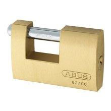 ABUS KA11580 82/90 90mm Monoblock Brass Shutter Padlock Keyed 8523