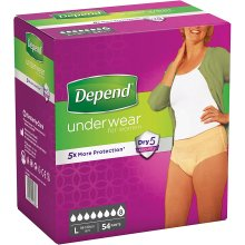 Depend Underwear Absorbent Absorption Super Size L Women – 54 Units